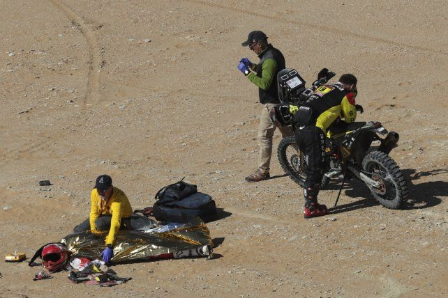 Rally Dakar: un motociclista tuvo un accidente y murió