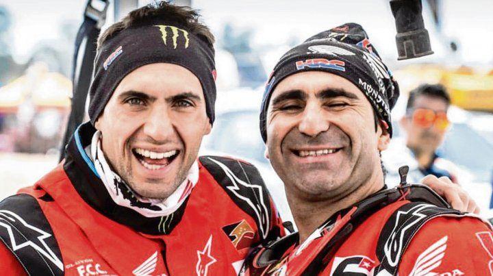 Otros tiempos. El salteño Benavides junto a Paulo Gonçalves
