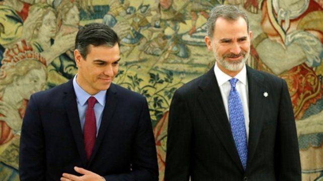 ahí vamos. Sánchez se reunió con el Rey Felipe VI.