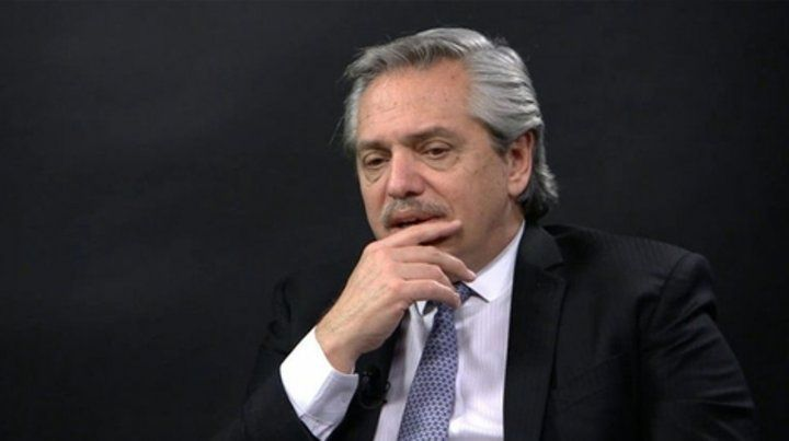 Optimista. El presidente Alberto Fernández destacó la baja de las tasas de interés que impulsa el BCRA.
