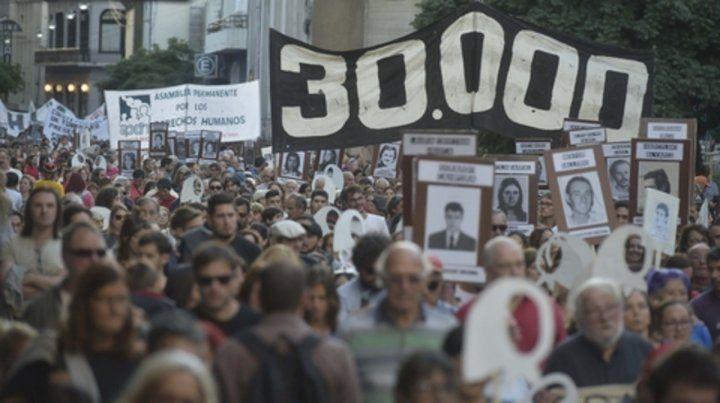 Juicio y castigo. En las multitudinarias marchas de los 24 de marzo