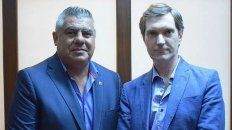 Claudio Tapia y Mariano Elizondo, los presidentes de la AFA y Superliga, respectivamente,
