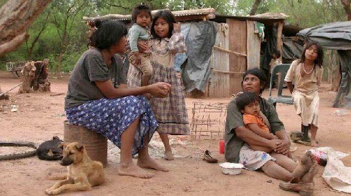 Pobreza extrema. Niños wichis en el interior de Salta. El drama es crónico y las muertes se suceden.