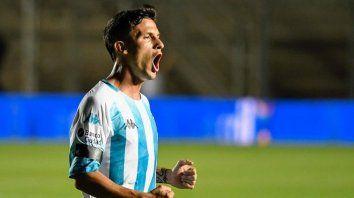 Fértoli participó del amistoso de la Academia con Paranaense. Marcó un gol y erró un penal.