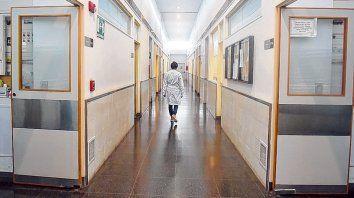 Pasillos. Un área del Hospital de Emergencias cercana al área de internación de la cual pretendió huir Morel.