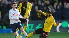 Puro talento. Lo Celso mostró sus credenciales futbolísticas con la camiseta de Tottenham, club que comprará su pase.