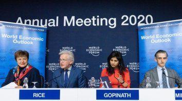 Proyecciones. Los funcionarios del FMI dieron a conocer su informe antes del inicio del Foro de Davos.