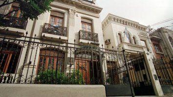 La sede del Colegio de Abogados de Rosario.