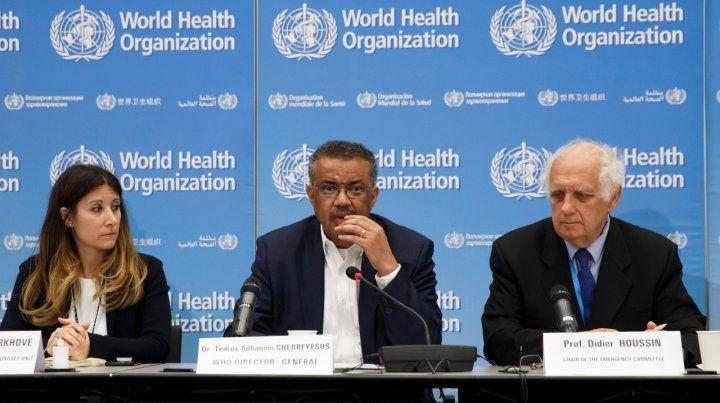 Suiza. Debate de la OMS. Su director Tedros Adhanom Ghebreyesus en el centro.