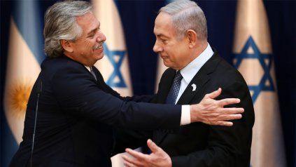 El presidente Alberto Fernández se reunió con el primer ministro de Israel, Benjamin Netanyahu.