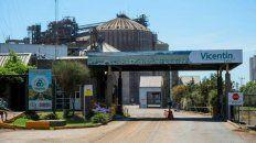 La planta de la empresa agroexportadora Vicentín en Santa Fe.