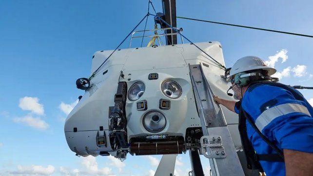 Las inmersiones se realizaron a bordo de un sumergible Tritón, construido para poder soportar las altas presiones del fondo del mar Fuente: Archivo - Crédito: Atlantic Production