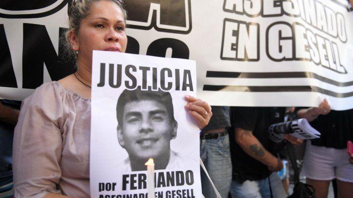 Dolor. Una de las marchas por la muerte de Fernando Báez Sosa.
