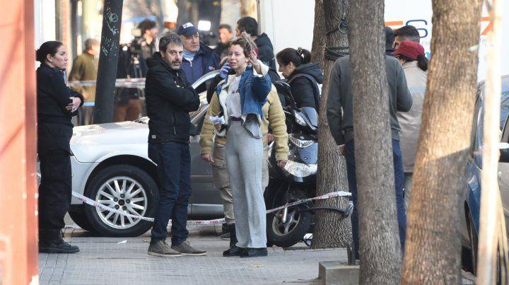 Agustina Thomson y el fiscal Moreno