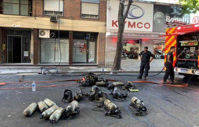 Alarma por un incendio en un noveno piso en pleno centro de la ciudad