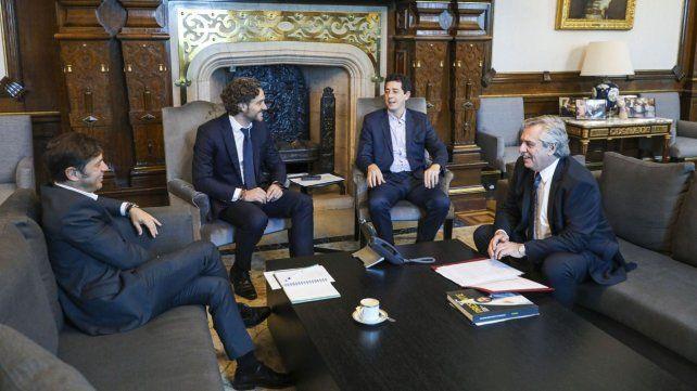 Kiciloff mantuvo una reunión con el presidente en la Casa Rosada.