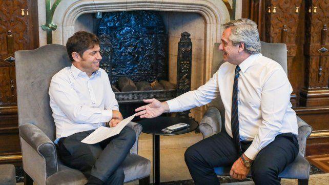 """Encuentro. Tanto Kicillof como Fernández calificaron a la reunión de """"·muy productiva""""."""