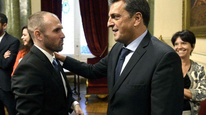El presidente de la Cámara baja recibió al ministro Martín Guzmán
