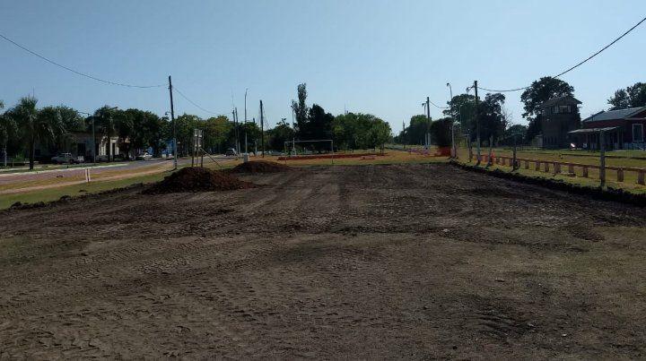 El sitio. Los trabajos comenzaron con el acondicionamiento del sector.