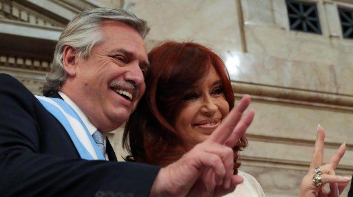Presidente y vice. Alberto Fernández mostró sintonía con Cristina en sus reparos al Fondo Monetario.