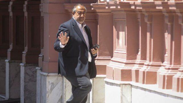 Héctor Daer ingresa a la Rosada para su reunión con el presidente.