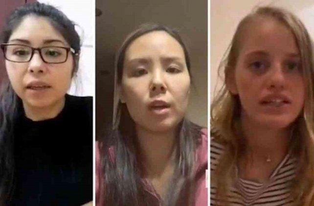En cuarentena. Tres argentinas que aparecen en el video
