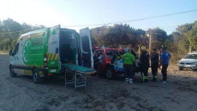 Tres de lo heridos fueron trasladados al hospital.