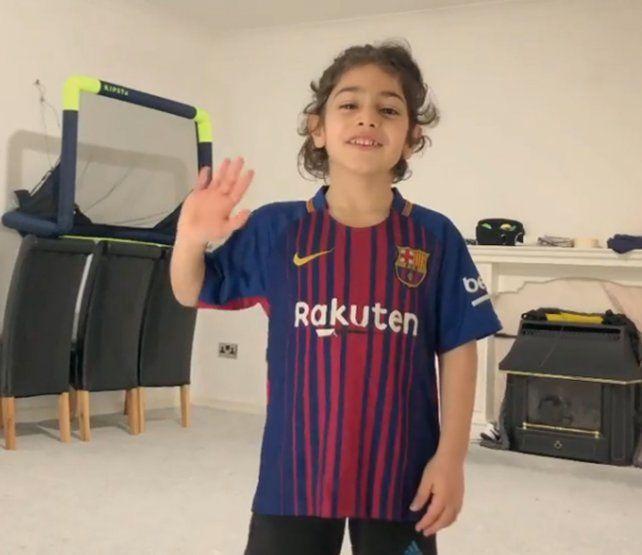 Messi le dedicó un impresionante al talento de chico iraní de 6 años
