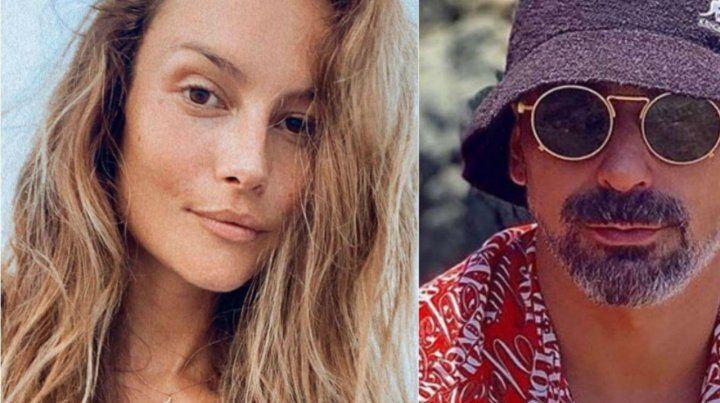 Natalia Borges y el Pocho Lavezzi pasan la cuarentena en una playa francesa.