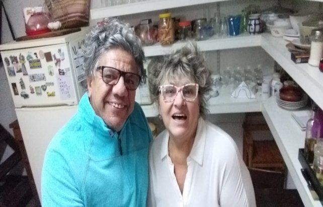 """Gachy Roldán y el """"Negro"""" Moyano en la cocina"""