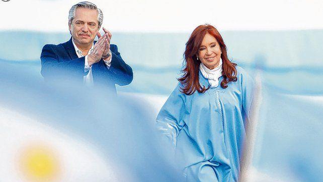 El dueto. La ausencia de albertismo maximiza el poder interno de Cristina y del kirchnerismo.