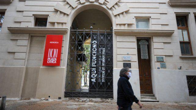 El frente del Centro de Detención Clandestina (ex SI) en la actualidad