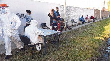 El camión sanitario donde se realizó la campaña de detección llegó a Empalme Graneros, Casiano Casas y el barrio Toba de Roullión al 4300.