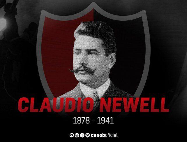 Claudio Newell, hijo de don Isaac Newell, fundador del club. Nació un día como hoy en Rosario.