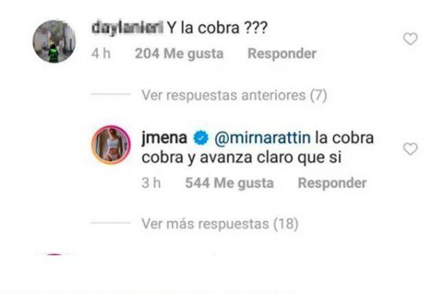 Jimena Barón se quedó en lo de Daniel Osvaldo y defendió su decisión