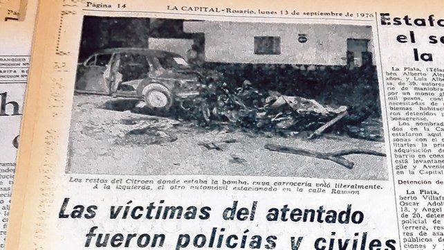 Septiembre de 1976. El colectivo trasladaba a policías que habían cumplido adicionales en la cancha de Central.