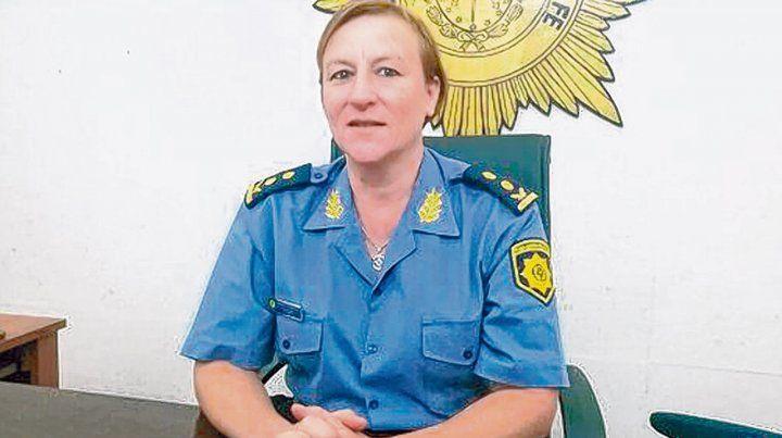 En ascenso. La directora de policía Maricel Chimenti desarrolló parte de su carrera en la Unidad Regional II.