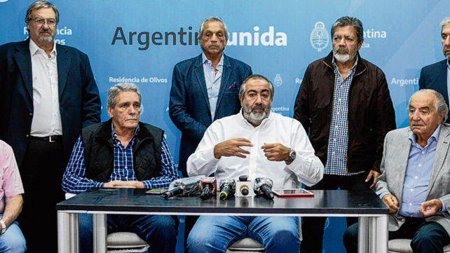 agenda. Los sindicalistas hablaron con el FMI y el ministro Moroni.
