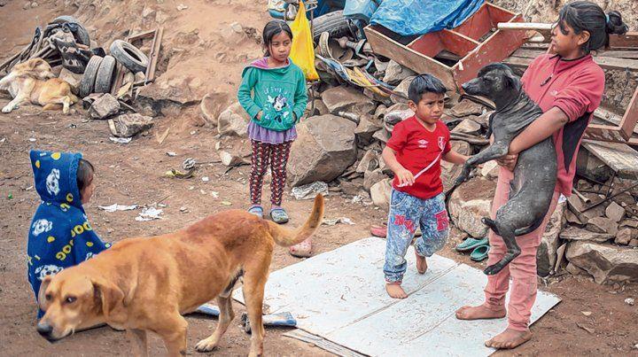 Grave. Chicos en una villa en las afueras de Lima