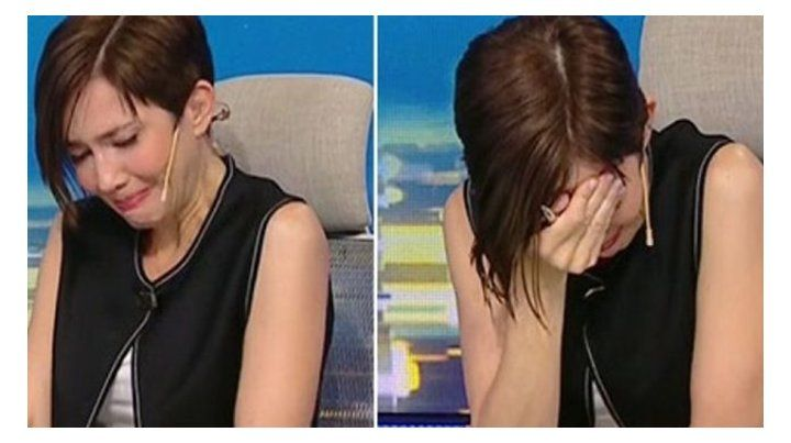 El llanto desconsolado de Cristina Pérez al enterrase de la muerte del hombre.