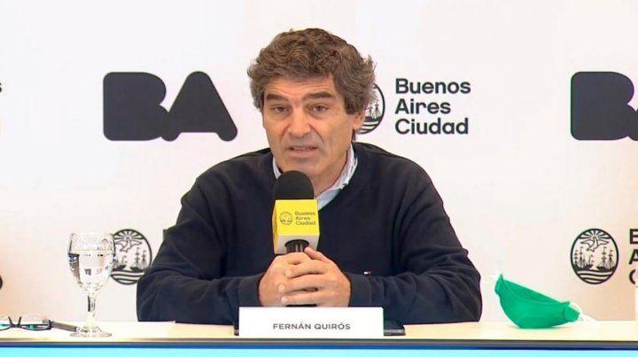 Ministro. Fernán Quirós.