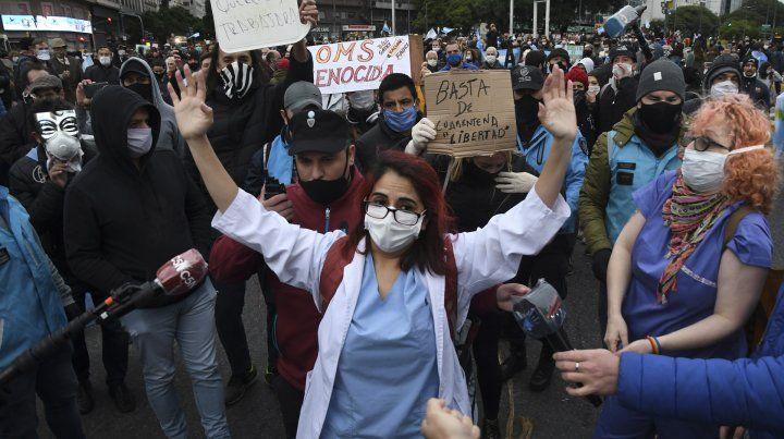 Las protestas anticuarentena se replicaron en todo el país.