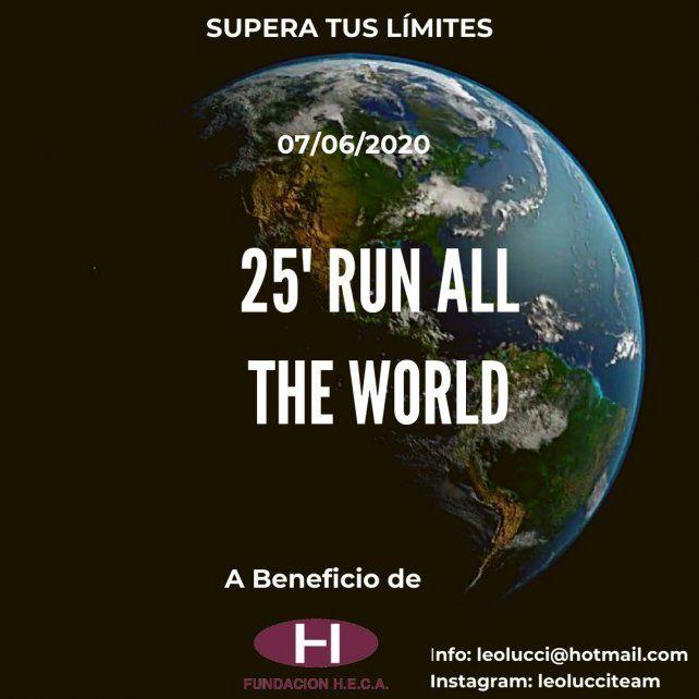 Correrán 300 atletas en los cinco continentes.