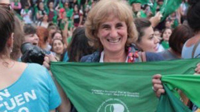 Silvia Augsburger sigue con su militancia feminista y con la Campaña Nacional por el Aborto Legal