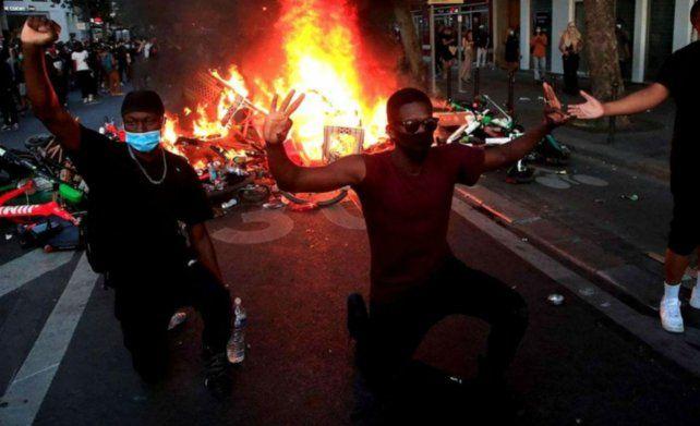 Las protestas antirracistas y la represión policial se trasladaron a París