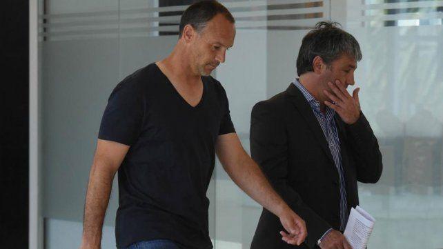 Mauro Matos al momento de asistir a los Tribunales.
