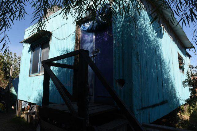 La casa donde prendieron fuego a Vanesa. (Foto: Francisco Guillén)
