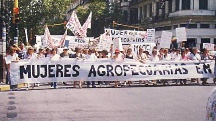 La lucha por la tierra. Las mujeres agropecuarias salieron en defensa de la agricultura familiar.