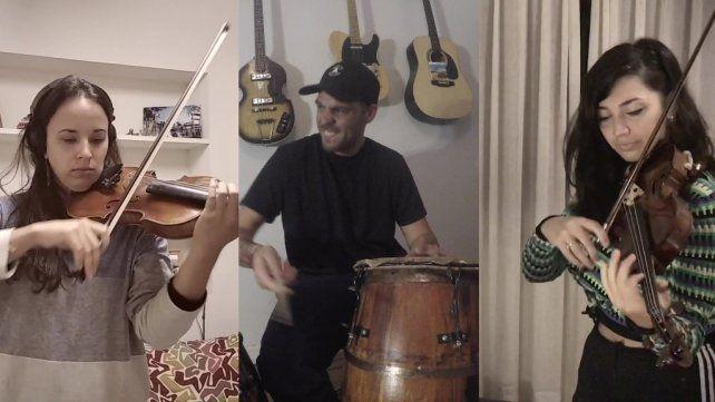 Numerosos músicos de Venado Tuerto participaron de la nueva Marcha San Lorenzo.