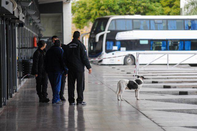 El pasajero llegó a la terminal Mariano Moreno proveniente de Perú.